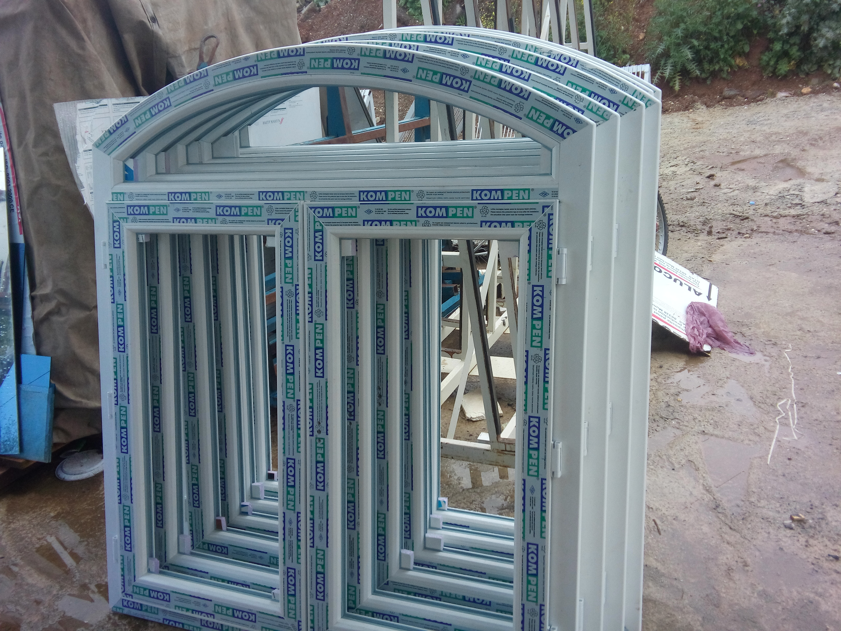 pvc curved window